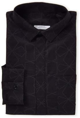 Versace Jacquard Pattern Dress Shirt