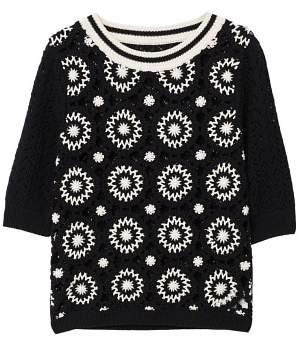 MANGO Crochet cotton sweater