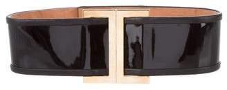 Balmain Patent Leather Waist Belt
