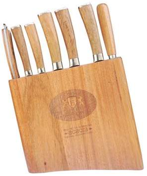 Triumph Hill 9 Piece Supreme Cutlery Knife Set with Genuine Acacia Knife Block Magnetic Bar