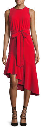 Sachin + Babi Merle Asymmetric Sleeveless Bow Cocktail Dress