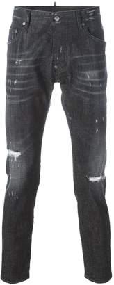 DSQUARED2 Skater whiskered microstudded jeans