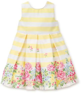Little Me Baby Girl's Two-Piece Stripe Pleated Dress and Bloomers Set