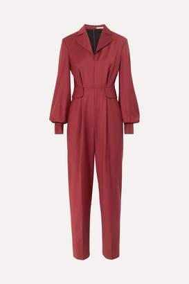 Emilia Wickstead The Woolmark Company Cliona Merino Wool Jumpsuit - Burgundy