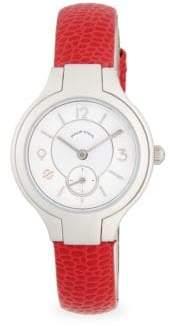 Philip Stein Teslar Stainless Steel & Leather-Strap Watch