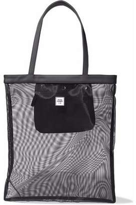 Opening Ceremony Faux Leather-Trimmed Mesh Tote