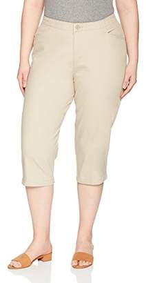 01352b8e469 Lee Indigo Women s Plus Size Comfort Collection L-Pocket Twill Capri
