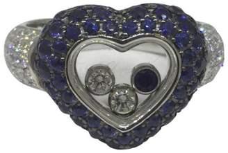 Chopard Happy Diamonds 18k White Gold Heart Shape Ring Size 6.75