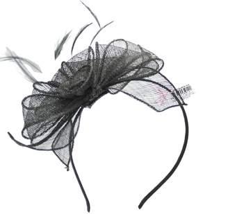 Inca Women Fascinator on Headband in Black for Weddings/Races & Occasions - 17x11 cm