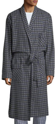 Neiman Marcus Men's Brushed Flannel Robe