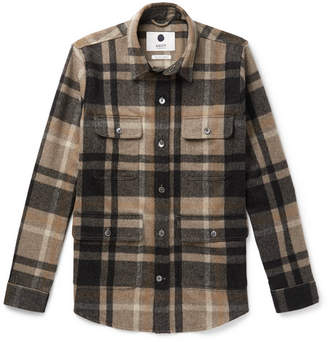 NN07 Eddard Checked Wool-blend Flannel Overshirt