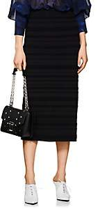 Proenza Schouler Women's Striped Jacquard Fitted Midi-Skirt-Black