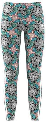 adidas Girls' Floral Animal-Print Leggings - Big Kid