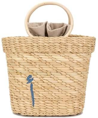Poolside embroidered mini tote bag
