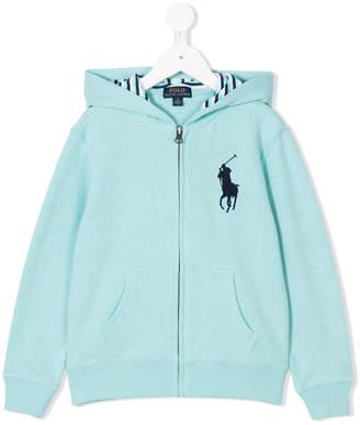Ralph Lauren polo logo zip hoodie