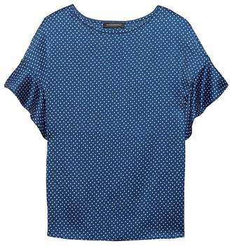Banana Republic Dot Flutter Sleeve Polished Tee