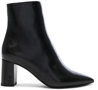 Saint Laurent Betty Leather Heeled Pin Ankle Boots