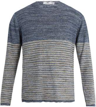 INIS MEÁIN Striped linen sweater