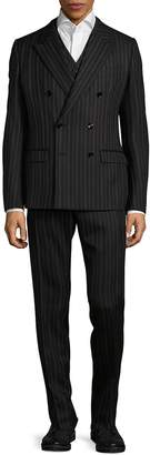 Dolce & Gabbana Men's Three-Piece Woolen Vest, Jacket & Pants Set