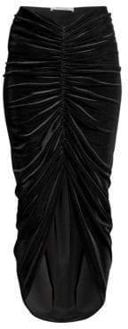 Bailey 44 Velvet Ruched Midi Skirt