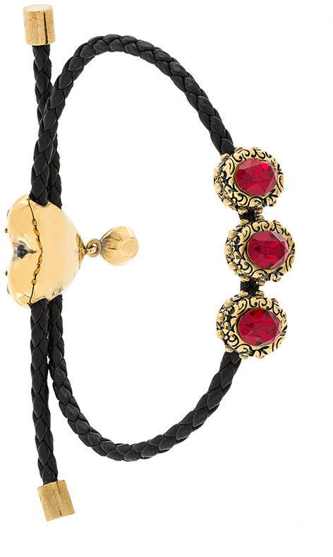 Alexander McQueenAlexander McQueen embellished braid bracelet