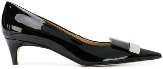 Sergio Rossi pointed varnished pumps