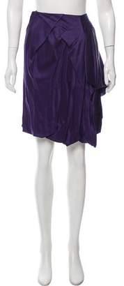 John Galliano Pleated Satin Skirt w/ Tags