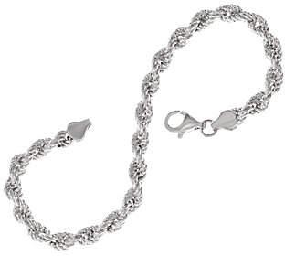 Sterling Silver Diamond Cut Rope Bracelet bySilver Style