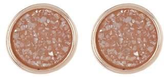 Panacea Circle Disco Drusy Stud Earrings
