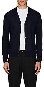 DSQUARED2 Men's Wool V-Neck Cardigan-Blue Size Xl