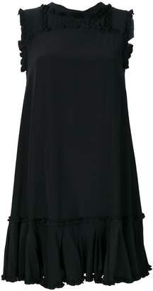 Ermanno Scervino frilled appliqué mini dress
