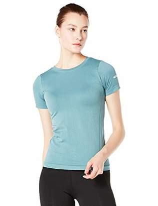 95f3c3462bd13 Halina Athletics Seamless Quick-Dry Crewneck Short Sleeve Workout Tunic Top