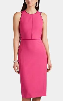Narciso Rodriguez Women's Contrast-Seam Stretch-Crepe Sheath Dress - Pink