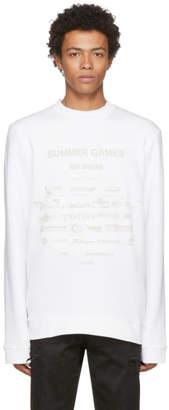 Raf Simons White Summer Games Sweatshirt
