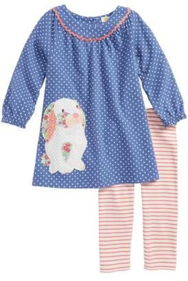 Boden Mini Applique Dress & Leggings Set