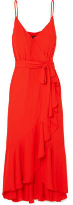 J.Crew Wrap-effect Ruffled Crepe De Chine Midi Dress
