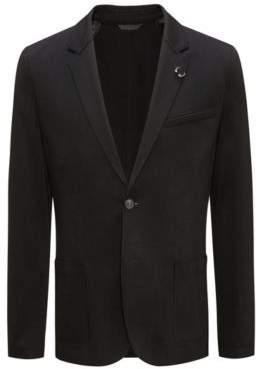 HUGO Boss Open Cut Jersey, Extra Slim Fit 'Ardis' 36R Black