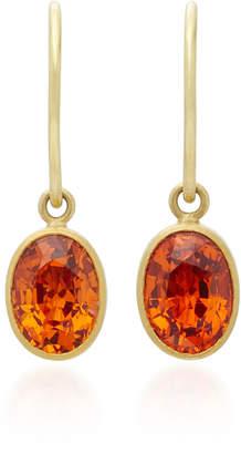 Mallary Marks Hard Candy 18K Gold Spessartite Garnet Earrings $1,930 thestylecure.com