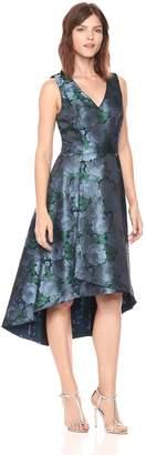 Adrianna Papell Women's V-neck High Low Skirt