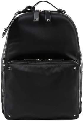 Valentino Vltn Logo Strap Print Backpack