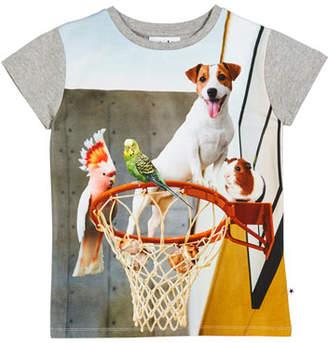 Molo Ranva Animals on Basketball Hoop Graphic Tee, Size 3-10