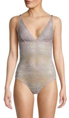Samantha Chang Lace V-Neck Bodysuit