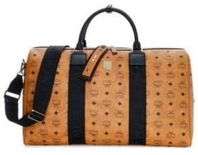 MCM Weekender Visetos Coated Canvas Traveler Duffel Bag