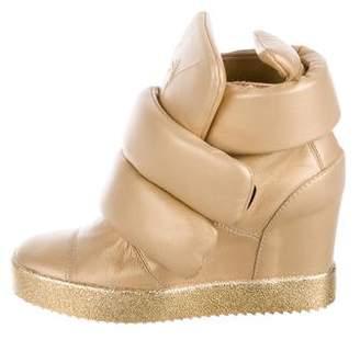 Giuseppe Zanotti Puffy Strap Wedge Sneakers