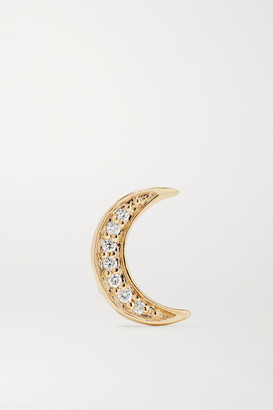Andrea Fohrman Mini Crescent 14-karat Gold Diamond Earring