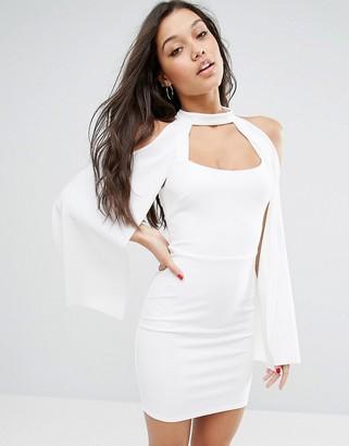 ASOS Crop Cape Mini Bodycon Dress $58 thestylecure.com