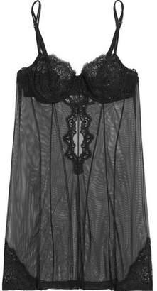 La Perla Edenic Embroidered Tulle Underwired Camisole