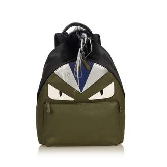 Fendi Green Leather Backpacks