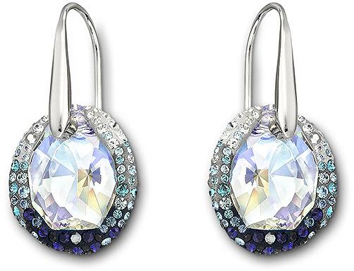 Swarovski Hyacinth Blue Pierced Earrings