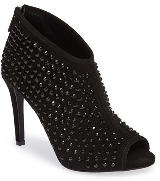 MICHAEL Michael Kors Dani Crystal Embellished Open Toe Bootie (Women) $224.95 thestylecure.com